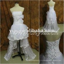 JJ2860 бисером спереди короткое, а сзади длинное платье 2013 Свадебные