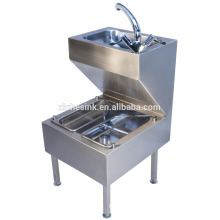 Commercial Stainless Steel Bucket Sink ,Stainless Steel Janitorial Unit with Hand Wash Basin,