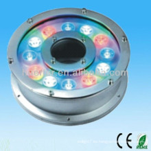 Alibaba expresan el nuevo producto en el mercado de China 100-240v 12V 24V 9w 12w ip65 12w RGB llevaron la luz impermeable de la fuente