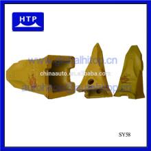 Venta caliente excavadora partes cubo dientes tipos de adaptador para Sany 60116437
