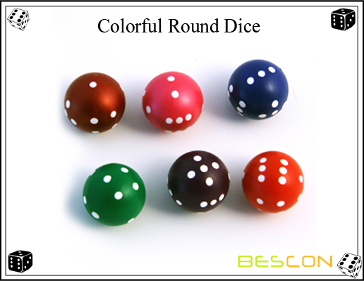 Bescon-Colorful Round Dice