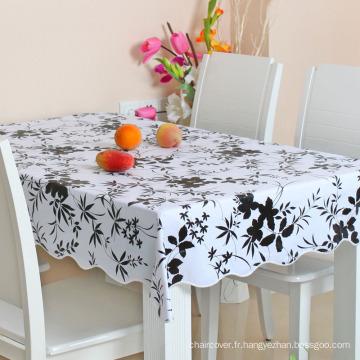 Tissu de table en plastique PVC personnalisé