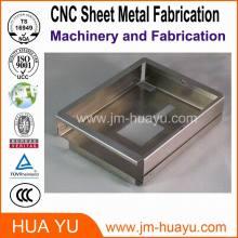 El CNC parte auto / la hoja de cobre amarillo de las piezas del CNC que sella el doblez que perfora las piezas de automóvil del acero de carbono con la capa del polvo