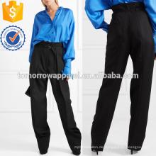 Plissee Wide-Leg Wolle Hosen Herstellung Großhandel Mode Frauen Bekleidung (TA3040P)