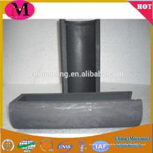 Boîte en graphite pour la fusion des métaux, bateau en graphite