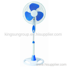"""16"""" Floor Fan With Blue And White Color"""