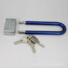 Chrome Plated Square Long Shackle Atom Padlock (CAP)