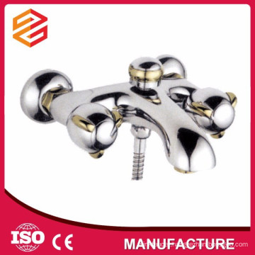 dual handle shower mixer copper shower faucet surface mounted mixer shower