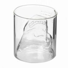 Череп одностенный стеклянный стаканчик