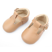 T-Bar Baby Dress Shoes in vera pelle