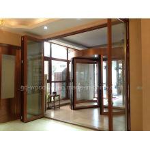 Porte-fenêtre pliante / porte rabattable à double vitrage sur mesure