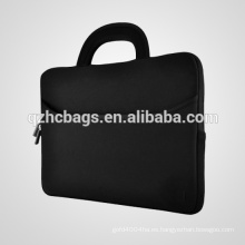 "Para 15 ""computadoras portátiles y Chromebooks, bolso portátil del neopreno de la correa del bolso de la caja de la manija del bolsillo accesorio"
