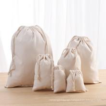 High Quality Eco-Friendly Gift String Bag Small Cotton Drawstring Bag