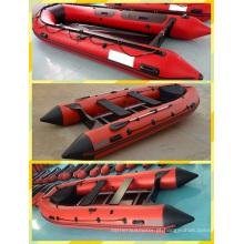 Barco inflável vermelho quente do PVC de 4.2m para a venda
