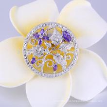 China cc broche cristalino para el uso de la boda
