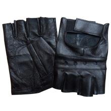 Men′s Fashion Fingerless Sheepskin Leather Driving Gloves (YKY5025)