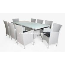 Ротанга патио столовая Мебель плетеная сад стул