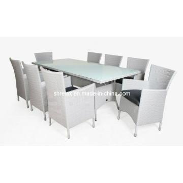 Patio rota, muebles de mimbre de jardín al aire libre silla de comedor