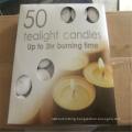 Round Shape Tea Light Candle For Christmas