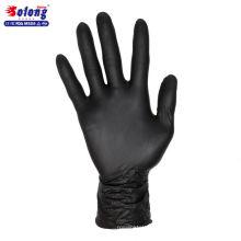 Solong tatouage S / M / L / autorisé nitrile noir 100pcs gants de tatouage jetables