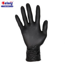 Solong tattoo S/M/L/authorized black nitrile 100pcs disposable tattoo gloves