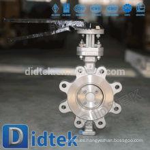Didtek Triple Desplazamiento Baja Torque Tipo de sujeción Válvula de mariposa