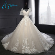 2017 Tulle Satin Empire Waistline Ball Gown Plus Size Wedding Dress