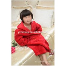 Cheap wholesale enfants enfants molleton chaud doux peignoir avec capuche