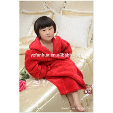 Albornoz de suave lana caliente de niños baratos niños venta por mayor con capucha