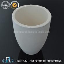 Cadinhos cerâmicos resistentes da alta temperatura / alumina / metal da fundição