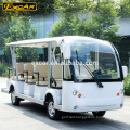 14 Seat Electric Sightseeing Bus 72V Trojan Battery Electric Tour Bus tourist automobile