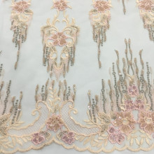 2019 dernier tissu de broderie perle de vêtement