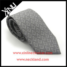 Silk Printed Gray Custom Masonic Necktie