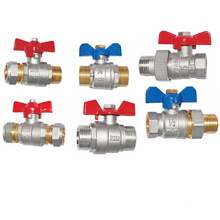 Brass Forged Full Bore Ball Valve with Butterfly Handle (a. 7014)