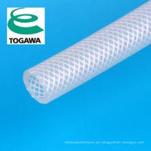 Manguera trenzada de caucho de silicona blanda. Fabricado por Togawa Rubber Co., Ltd. Fabricado en Japón (manguera de automoción de silicona)