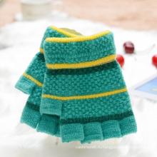 2017 Зимняя Мода Дети Симпатичные Короткие Плюшевые Перчатки, Половина Палец Теплые Пользовательские Оптовая Дешевые Детские Трикотажные