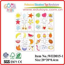 2015 educativos rompecabezas de formas Set 2 juguetes de madera lishui