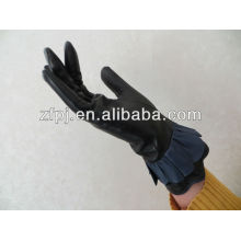 best sale christmas leather decoreted gloves for party