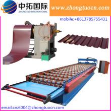 Azulejo de azotea de alta velocidad del rodillo que forma la máquina