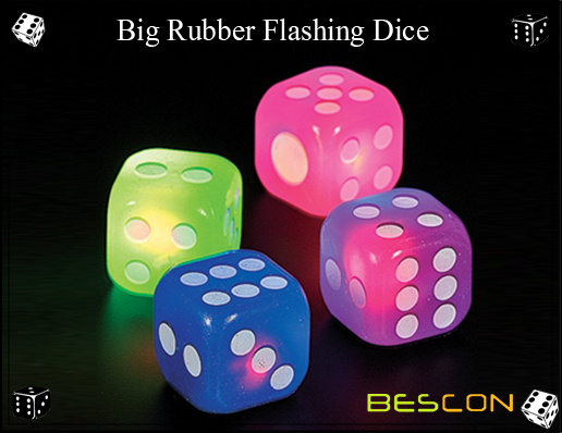 Bescon- Big Rubber Flashing Dice