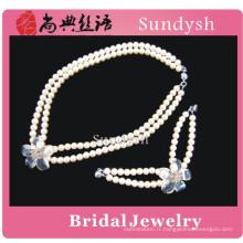 Vintage haute qualité à la main de mode cristal funky strass fantaisie lourd traditionnel magenta gros bijoux de mariée