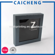 Chine fabricant boîte de papier carton noir avec fenêtre en PVC