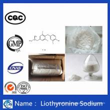 Pérdida de peso Hormona esteroide en polvo T3 Liothyronine Sodium