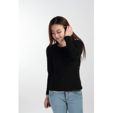 Custom Long Sleeves T Shirt Women Round Neck Blank Tshirt (TW-028)