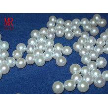 Perlas de perlas de agua dulce redonda de 7-8mm