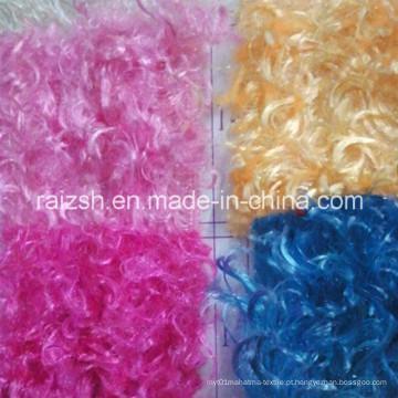 100% poliéster tecido de veludo crisântemo com multi-cores