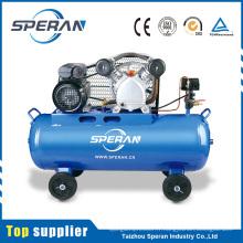 Le meilleur prix 2hp 100l mobile 2 cylindre piston courroie compresseur d'air avec des roues