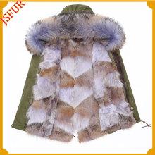 Customized Size Boys Hot Sale Fur Parka Women Parka Jacket