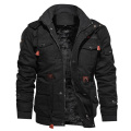 Winter Thickening Fleece Warm Military Style Track Jacket