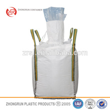 PE liner fibc - PP white Food grade jumbo bag with PE liner/ bulk bag with cross conner loops with plastic inner bag inside